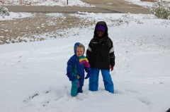 Kids and the snow